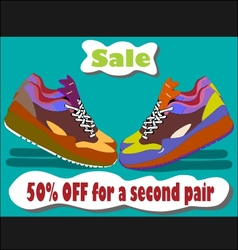 Sale shoes vector image vector image