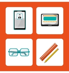 set elements office work vector image