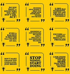 Set of motivational quotes about responsibility vector