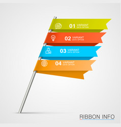 Signpost infographic elements vector