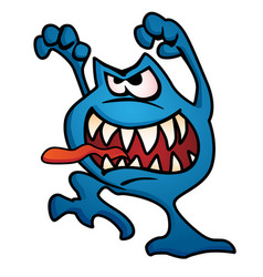Silly monster creature cartoon vector