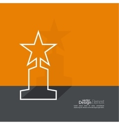 The award star winner vector image vector image