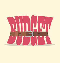 tight budget and recession shrinking economy vector image