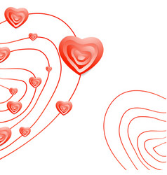Valentine day abstract heart background vector