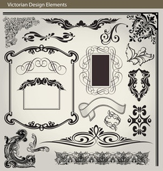 Victorian Elements1 vector image vector image