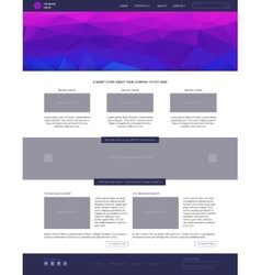 Website template Modern flat style with blue vector image