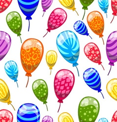 Seamless pattern with cute cartoon balloons 9 vector