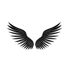 Pair of wings icon simple style vector