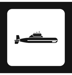 Submarine icon in simple style vector