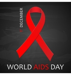 December world aids day poster vector