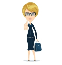 Attractive young woman in elegant office clothes vector