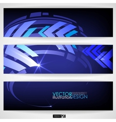 Arrow Blue Background With Place For Your Text vector image