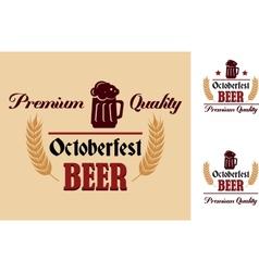 Retro beer label or emblem vector image