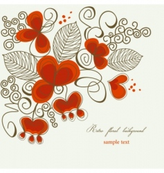 romantic floral corner vector image