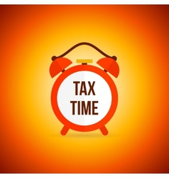 Tax alarm clock vector