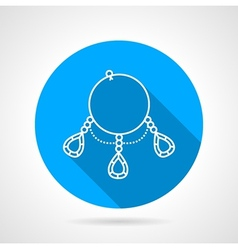 Flat round icon for ring necklace vector image