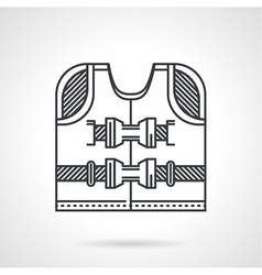 Rescuing vest flat line icon vector