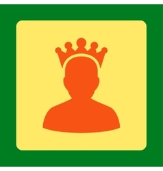King icon from award buttons overcolor set vector