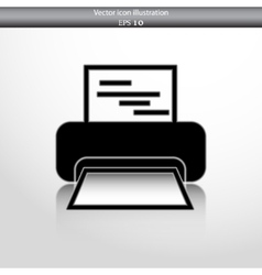 Printer web icon vector