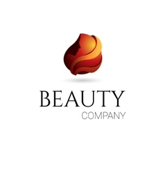 Beauty company logo vector image