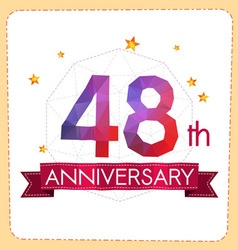 Colorful polygonal anniversary logo 2 048 vector