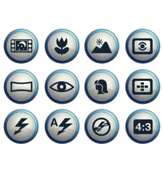 Photo modes icons set vector