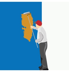 Man painting vector
