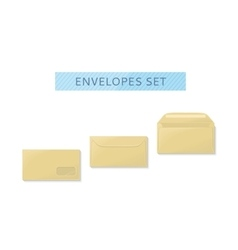 Envelope set open and close design flat vector