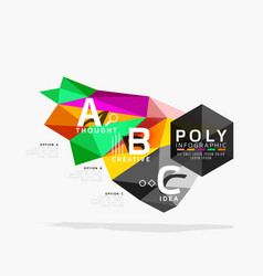 abstract polygonal infographics vector image
