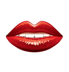 Beautiful lips isolated vector