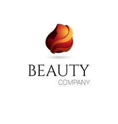 Beauty company logo vector image