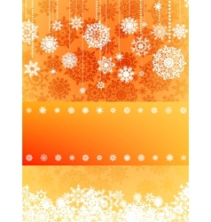 Beige christmas with snowflake EPS 8 vector image vector image