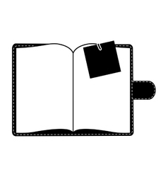 Blank notepad icon image vector