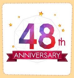 Colorful polygonal anniversary logo 2 048 vector