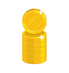Column gold coins cartoon icon vector