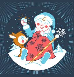 concept of santa claus baby vector image vector image