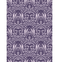 Damask seamless pattern repeating background vector image vector image