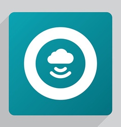 flat connect cloud icon vector image vector image