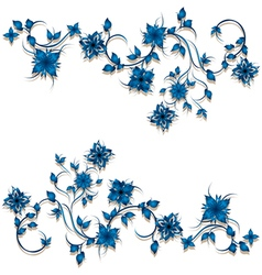 Floral curl decoration vector image