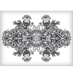 Grey ornamental floral adornment vector