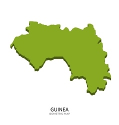 Isometric map of Guinea detailed vector image vector image
