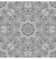Monochrome seamless pattern in ethnic style hand vector
