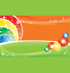 music all the year background vector image vector image