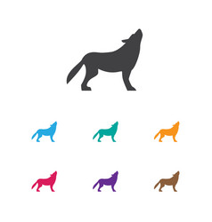 of animal symbol on beast icon vector image
