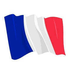 Political waving flag of france vector