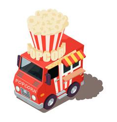 Popcorn machine icon isometric style vector