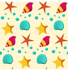 Seamless patterns sea vector image