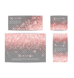 sequins pink background vector image vector image