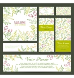 Set of banners business card frame invitations vector