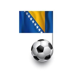 Soccer balls or footballs with flag of bosnia and vector